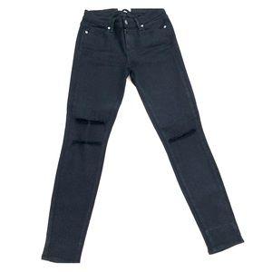 Paige Denim black distressed jeans